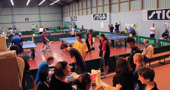 Salle pleine pour la première édition 2013 du tournoi d'Armor Ping Ploufragan